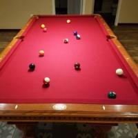 American Heritage Red Felt Pool Table