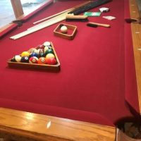 Fischer Pool Table with Matching Light