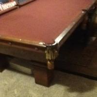 Antique L. Grayman Pool Table